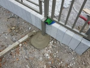 Garde au sol portail automatique